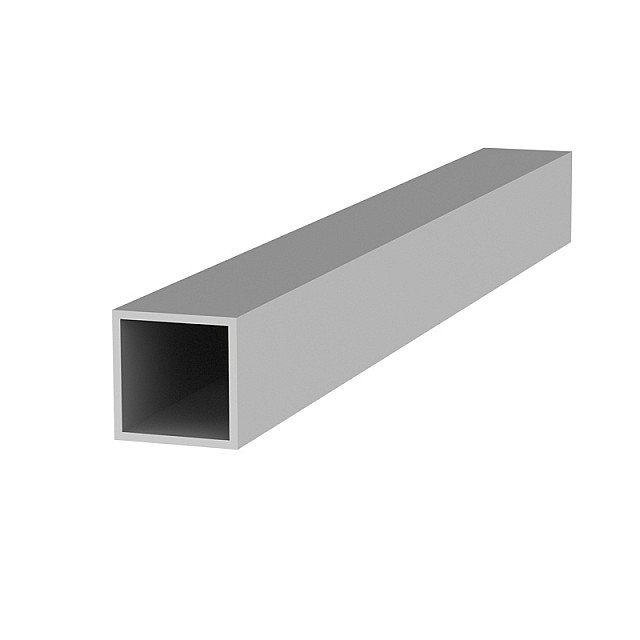 SQUARE ALUMINUM PROFILE 20x20 ANODIZED 1.3 THICKNESS